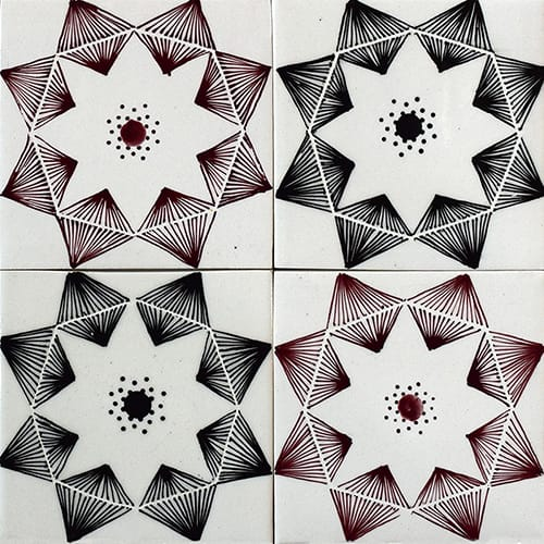 Diamonds Glossy Ceramic Tiles 4×4