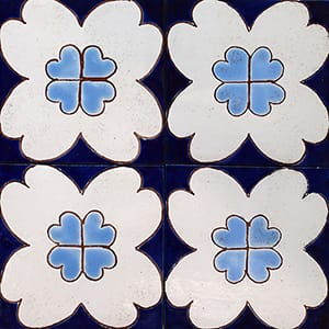 Flower Glossy Ceramic Tiles 4x4