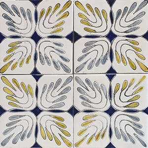 Leaves Glossy Ceramic Tiles 4x4