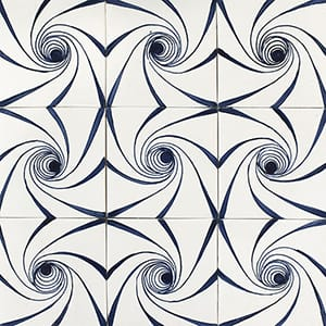 Twisted Glossy Ceramic Tiles 4x4