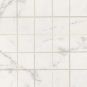 Statuario Gold Honed&rectified 2x2 Porcelain Mosaics 12x12