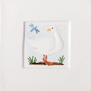 Goose And Dragon Fly Glazed Ceramic Tiles 4x4