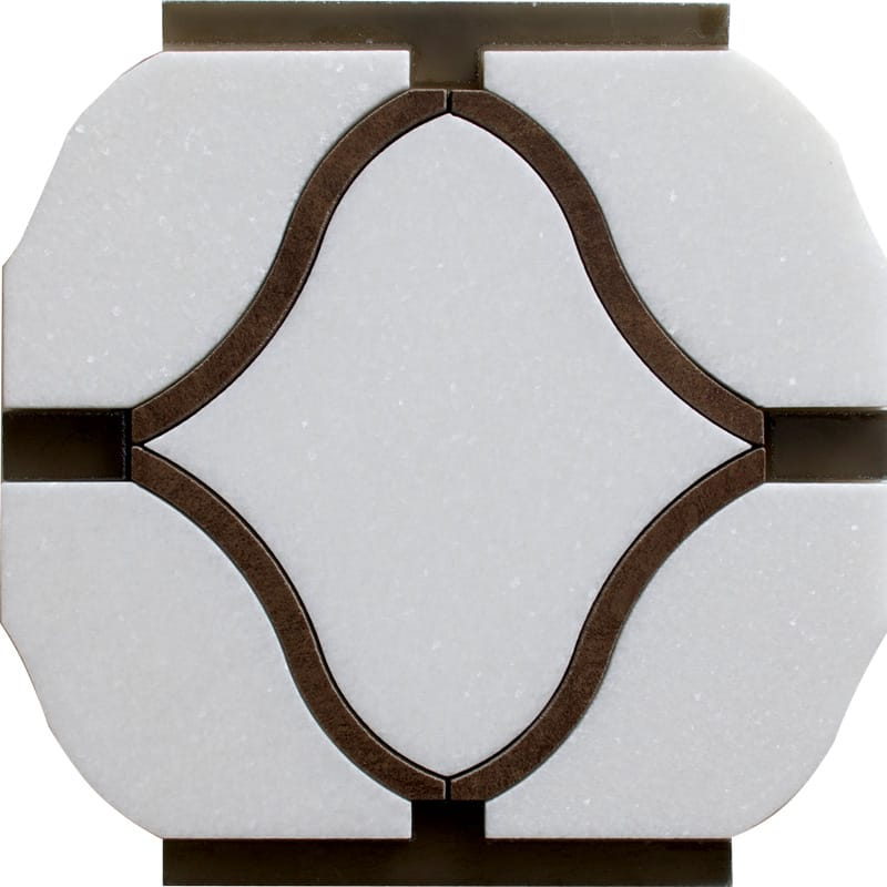 Dionysusa-th,ca,pura Honed 14 1/2 X 20 1/4 Waterjet Marble Mosaics