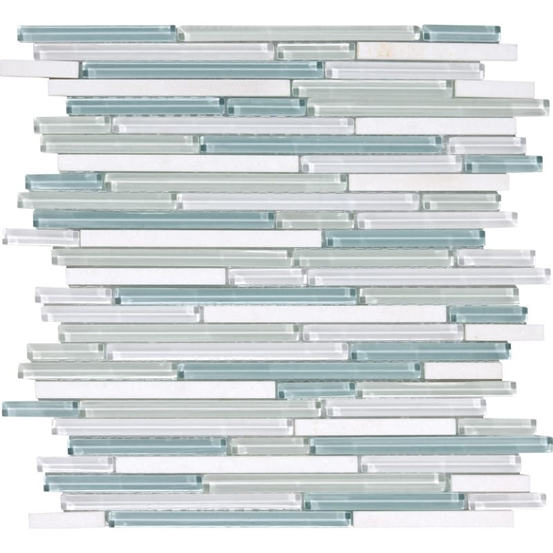 Cassis Gloss Liner Blend Glass Mosaics 12x12
