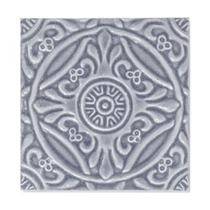 Sirena Sky Glossy Medallion Ceramic Wall Decos 6x6