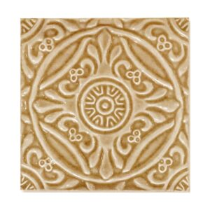 Bella Glossy Medallion Ceramic Wall Decos 6x6