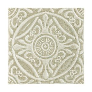 Eucalyptus Crackle Medallion Ceramic Wall Decos 6x6