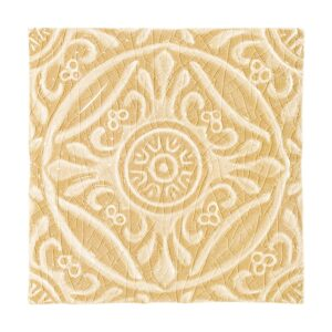 Buttercup Crackle Medallion Ceramic Wall Decos 6x6