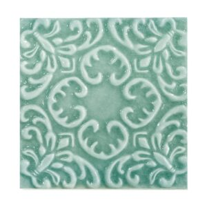 Costa Mia Glossy Baroque Ceramic Wall Decos 6x6