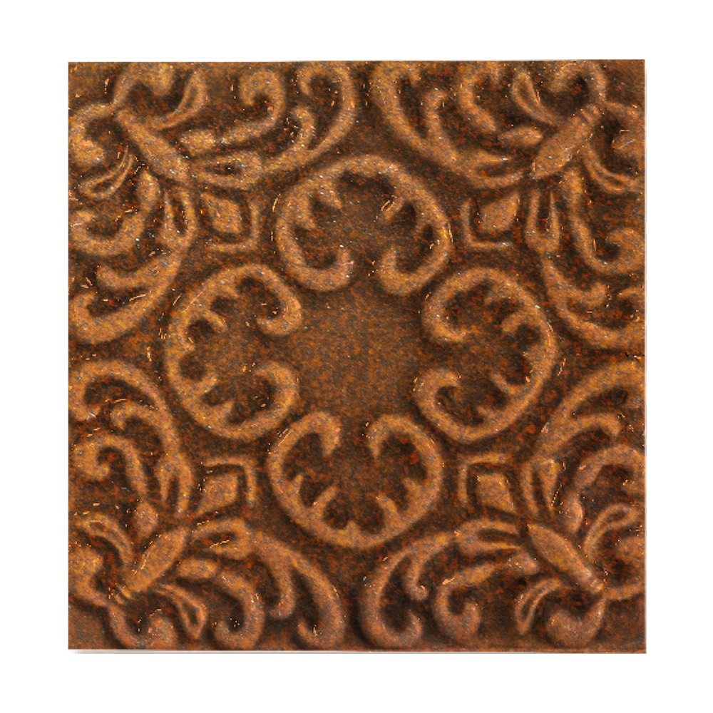 Crompton Brown Glossy Baroque Ceramic Wall Decos 6x6