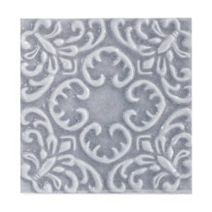 Sirena Sky Glossy Baroque Ceramic Wall Decos 6x6