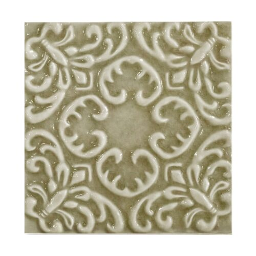 Willow Glossy Baroque Ceramic Wall Decos 6×6