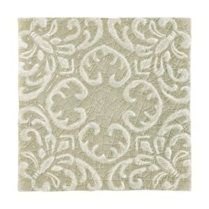 Eucalyptus Crackle Baroque Ceramic Wall Decos 6x6