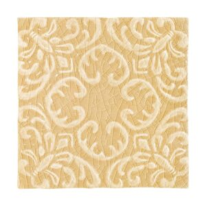 Buttercup Crackle Baroque Ceramic Wall Decos 6x6