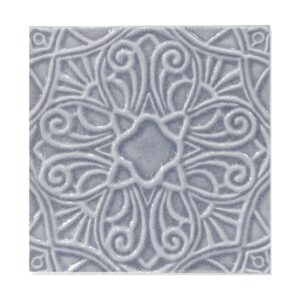Sirena Sky Glossy Filigree Ceramic Wall Decos 6x6