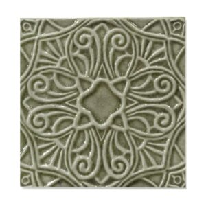 Shitake Glossy Filigree Ceramic Wall Decos 6x6