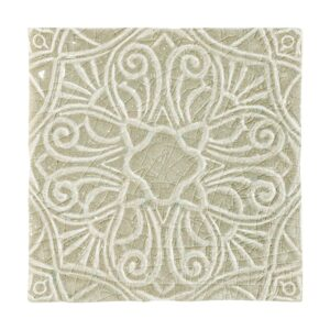 Eucalyptus Crackle Filigree Ceramic Wall Decos 6x6
