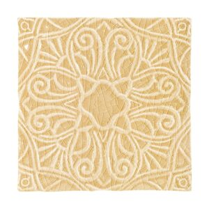 Buttercup Crackle Filigree Ceramic Wall Decos 6x6