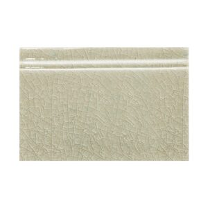 Eucalyptus Crackle Base Trim Ceramic Moldings 4 3/16x6