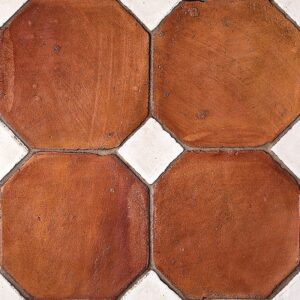 Octagon Ohs Waxed Terracotta Tiles 4x4