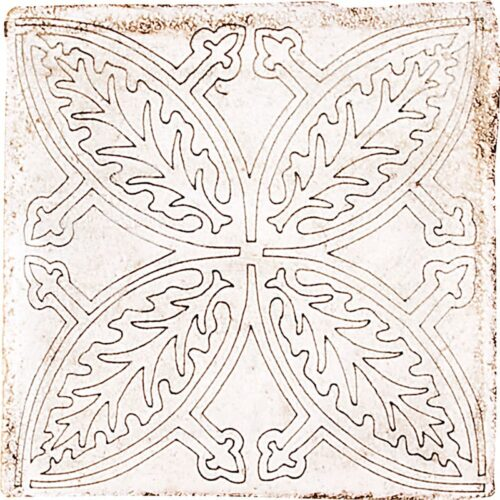 Floral Outline 110 Waxed Terracotta Tiles 4×4