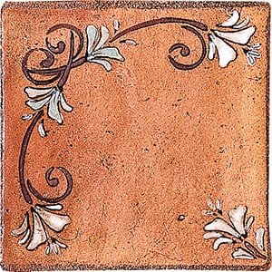 Engraved Small Dots Terracotta Tiles 4x4