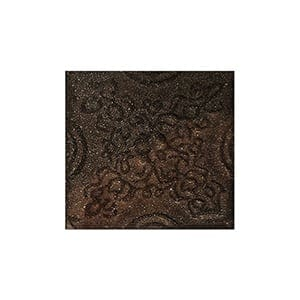 Mahogany Glazed Laurier Ceramic Wall Decos 2x2