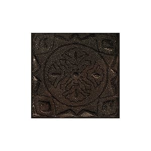 Mahogany Glazed Bouclier Ceramic Wall Decos 2x2