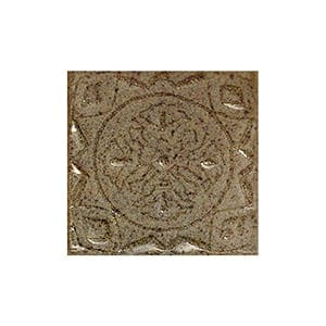 Toffee Glazed Bouclier Ceramic Wall Decos 2x2