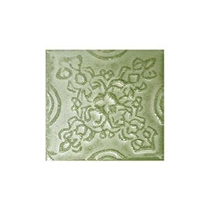 Mint Glazed Laurier Ceramic Wall Decos 2x2