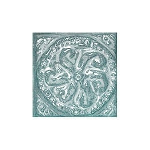Turquoise Glazed Ruban Ceramic Wall Decos 2x2