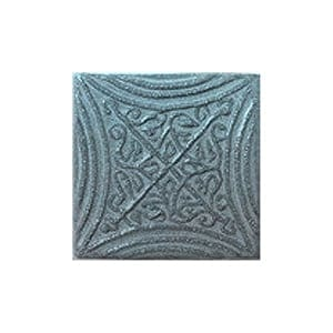 Blue Smoke Glazed Butin Ceramic Wall Decos 2x2