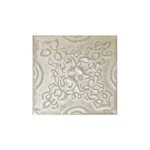 Creme Brulee Glazed Laurier Ceramic Wall Decos 2x2