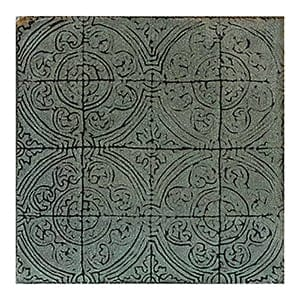 Green Tea Glazed Aquitaine Ceramic Wall Decos 6x6