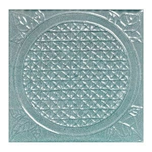 Turquoise Glazed La Grille Ceramic Wall Decos 6x6