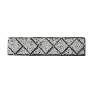 Alabaster Glazed Diamants Ceramic Moldings 1x6