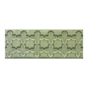 Mint Glazed Treillis Ceramic Moldings 2x6
