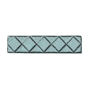 Turquoise Glazed Diamants Ceramic Moldings 1x6