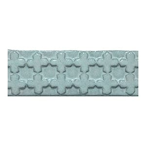 Turquoise Glazed Treilles Inversee Ceramic Moldings 2x6