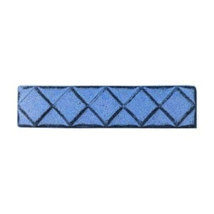 Mediterranean Blue Glazed Diamants Ceramic Moldings 1x6