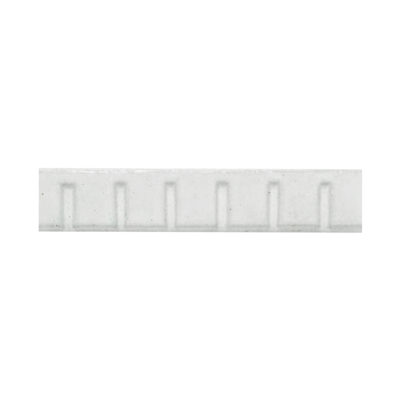 Glazed Architectural Molding : Blanc glazed dentil ceramic moldings country floors