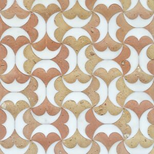 Bianco Matte Tibet Terracotta Waterjet Decos 12 5/8x12 5/8