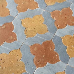 Cotto Gray Matte Fiore Tudor Semplice Terracotta Waterjet Decos 16x16