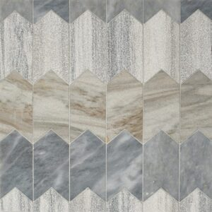 Skyline, Allure Multi Finish Freccia Marble Waterjet Decos 3x4 29/32