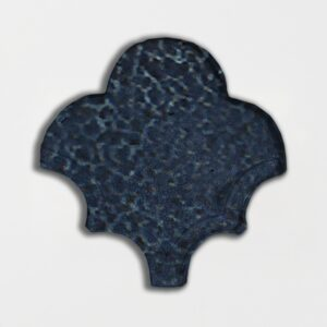 Pickford Blue Glazed Fan Shape Terracotta Tiles 3 1/2x4 1/2