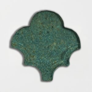 Joy Green Glazed Fan Shape Terracotta Tiles 3 1/2x4 1/2