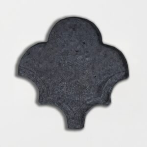 Flat Iron Glazed Fan Shape Terracotta Tiles 3 1/2x4 1/2