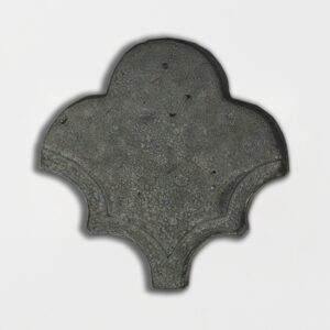 Grey Dog Glazed Fan Shape Terracotta Tiles 3 1/2x4 1/2