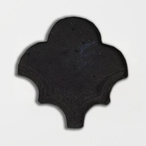 Karasuba Glazed Fan Shape Terracotta Tiles 3 1/2x4 1/2