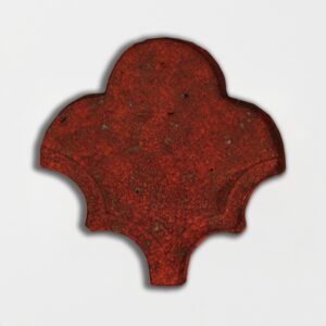 Kokai Glazed Fan Shape Terracotta Tiles 3 1/2x4 1/2